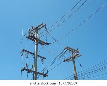 High volt electric pole