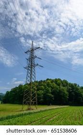 high volt Mast in nature