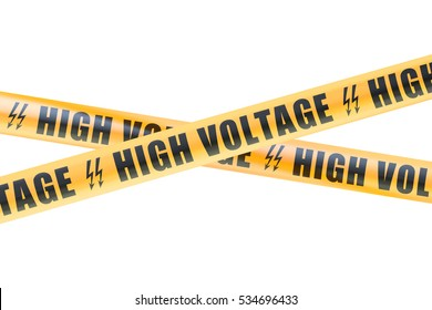 High Voltage Barrier Tapes, 3D rendering isolated on white background