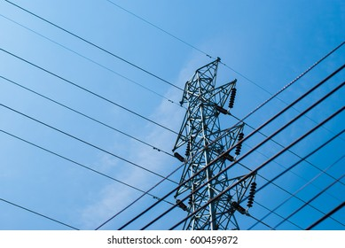 High voltage cable power post