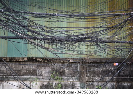 high voltage cable telephone cable internet stock photo (edit now phone line wiring colors high voltage cable, telephone cable and internet cable in bangkok, thailand