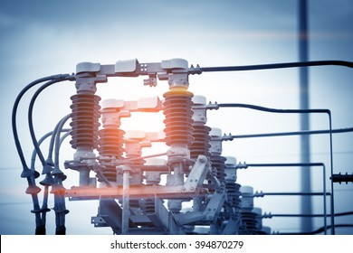 High voltage circuit breaker in a power substation