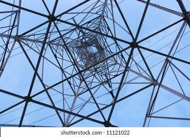 High voltage electric pillar from under