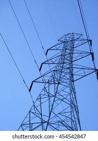 high voltage electric wire in high voltage zone