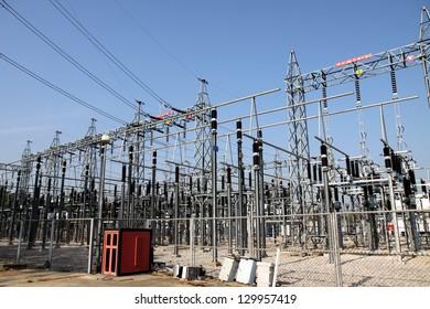 High Voltage Electrical Substation