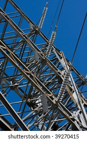 High Voltage Electrical Substation Insulators and power line