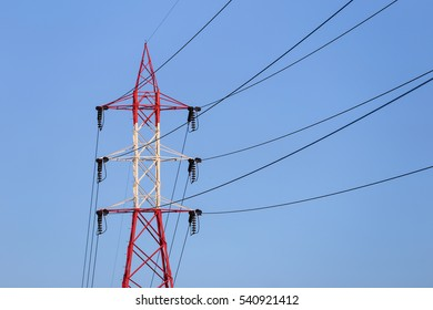 High Voltage Electricity Pole