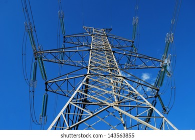 High voltage electricity pylon from the ground up