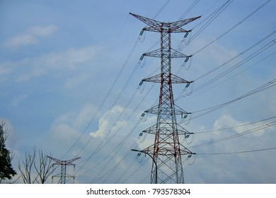 High voltage electricity tower