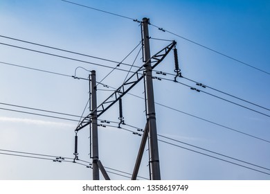 High voltage line tower construction of Qingfeng County, Fuyang City, Henan Province
