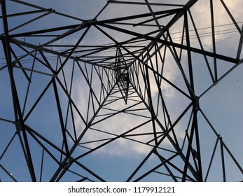high voltage pole and background