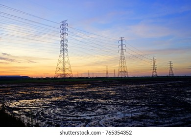 High voltage ground wire images stock photos vectors shutterstock high voltage pole on the grounds of planting publicscrutiny Choice Image