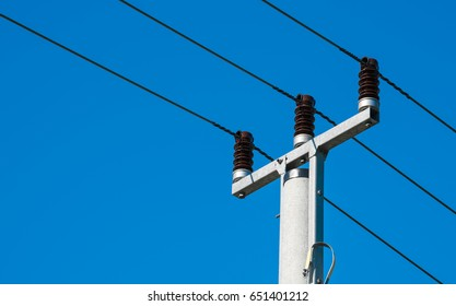 high voltage pole power lines