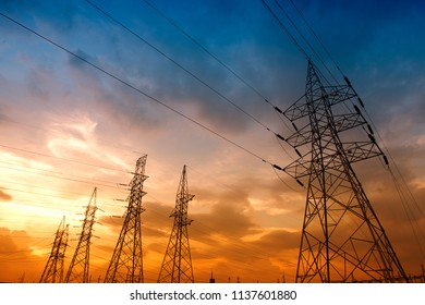 High voltage post or High voltage tower