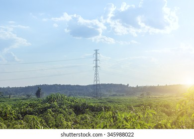 high voltage post.High-voltage tower,electric tower