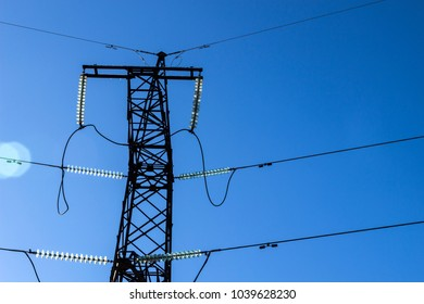 High voltage power line towers