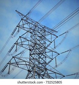 High voltage Steel structure tower