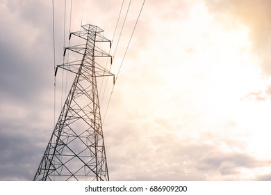 High voltage supplied from power source .