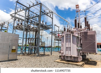 High voltage transformer and 22 KV.,metering structure unit