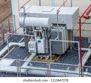 High voltage transformer and Fire control system at power plant