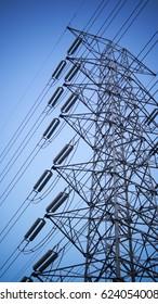 high voltages tower in thailand