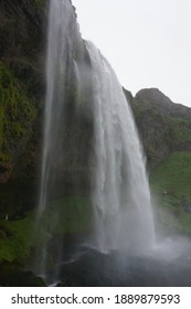 A high waterfall in eastern Iceland