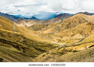The high way from Kargil to Leh Ladakh, through the magnitude view of mountain range