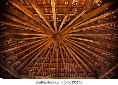 A high wooden made interior ceiling design unique photo