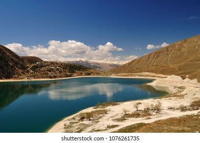 High-altitude lake Kezenoy am. Chechnya. Russia