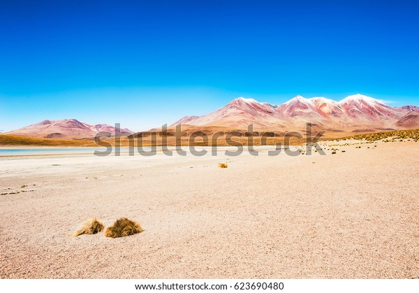High-altitude landscapes on the plateau Altiplano, Bolivia