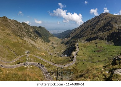 High-altitude road Transfagaras in the Romanian Carpathians