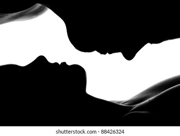 high-contrast twin portrait in backlight