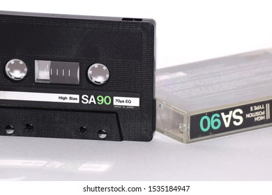 High-Definition Analogue Audio Tape, logos removed, no trademarks, acrylic compact cassette box