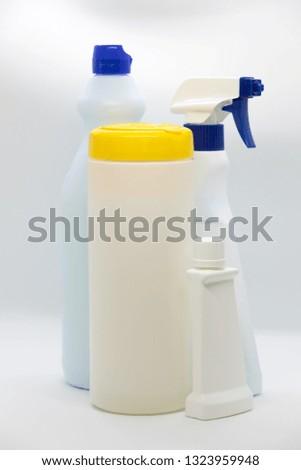 Highdensity Polyethylene HDPE PEHD PEAD Bottle Stock Photo