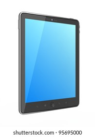 High-Detailed  generic Portable Tablet PC on White Background,