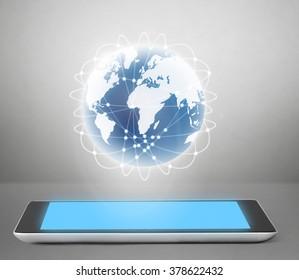 High-detailed modern black tablet