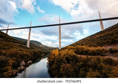 Highest Bridge on Earth, Millau Viaduct, Millau, France taken on the 30th of September 2015.
