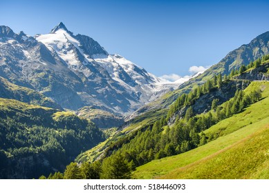 GroÃ?glockner, the highest mountain of Austria, Carinthia,