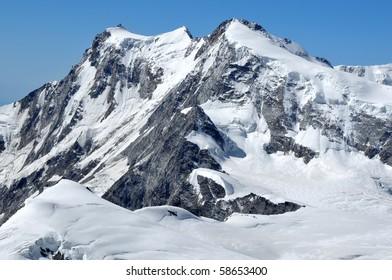 The highest mountain in switzerland and second highest in Europe the monte rosa in the southern swiss alps