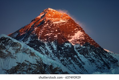 The highest mountain in the world - Everest,8848 m,south face