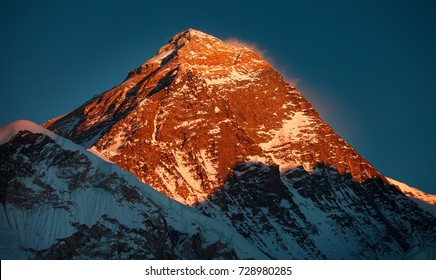 The highest mountain in the world - the south face of Everest