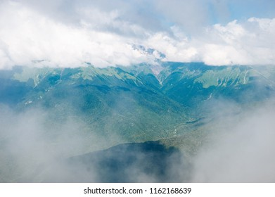 Highest mountains in Rosa Khutor, Sochi, Russia. Height. Go over the height