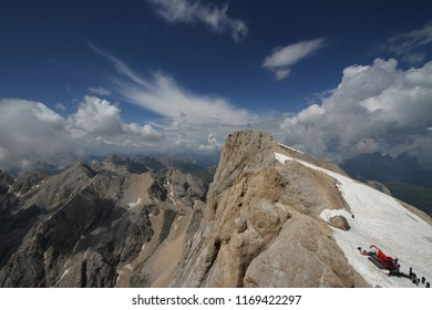 The highest peak in the Italian Dolomites, Marmolada
