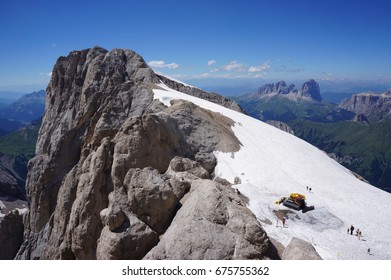 The highest peak in the Italian Dolomites, the Punta Penia. Part of the Marmolada mountain range.