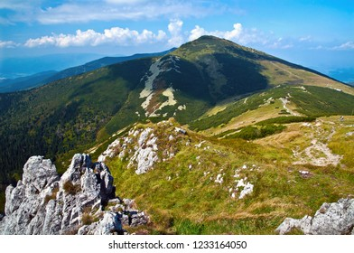 The highest peak of Mala Fatra mountains, Slovakia