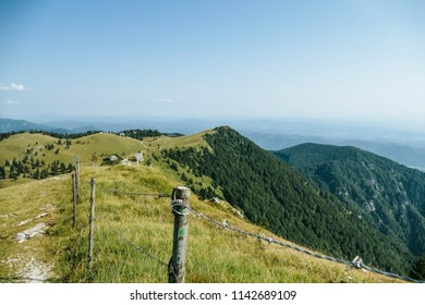 The highest plateau in Slovenia. Velika Planina is 1666m high with amazing views and trails.