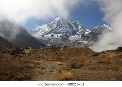 The highest point of the Annapurna Base Camp trek in Nepal