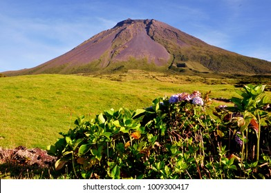 Highest point of Portugal, Pico volcano on Pico island, Azores