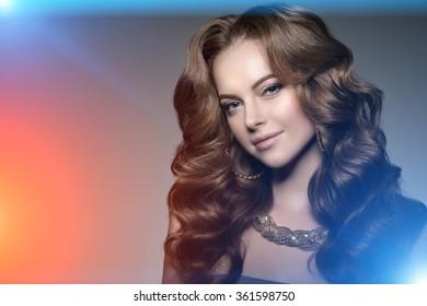 High-fashion Model Girl Beauty Woman.