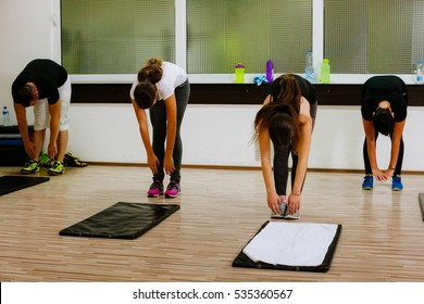 High-intensity interval training workout. Hiit group training